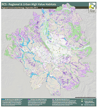 Regional Conservation Strategy map with parks